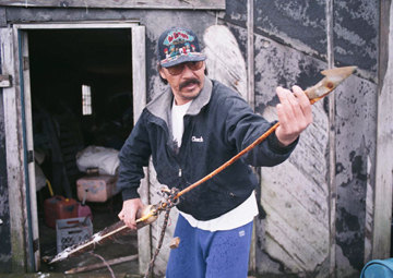 Man with harpoon